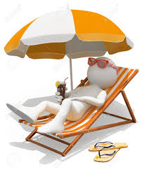 Chaise longue et parasol