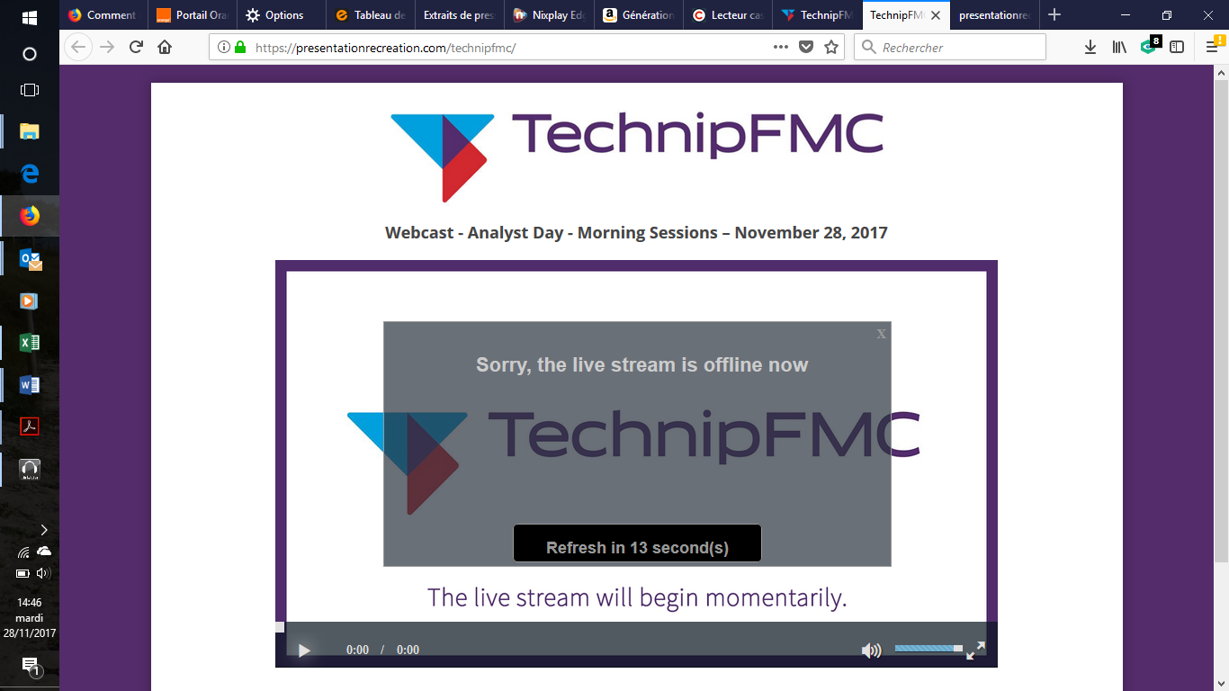 Technipfmc webcast analyst day